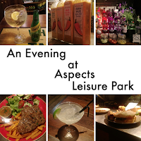 A collage of food and drink images from Aspects Leisure Park