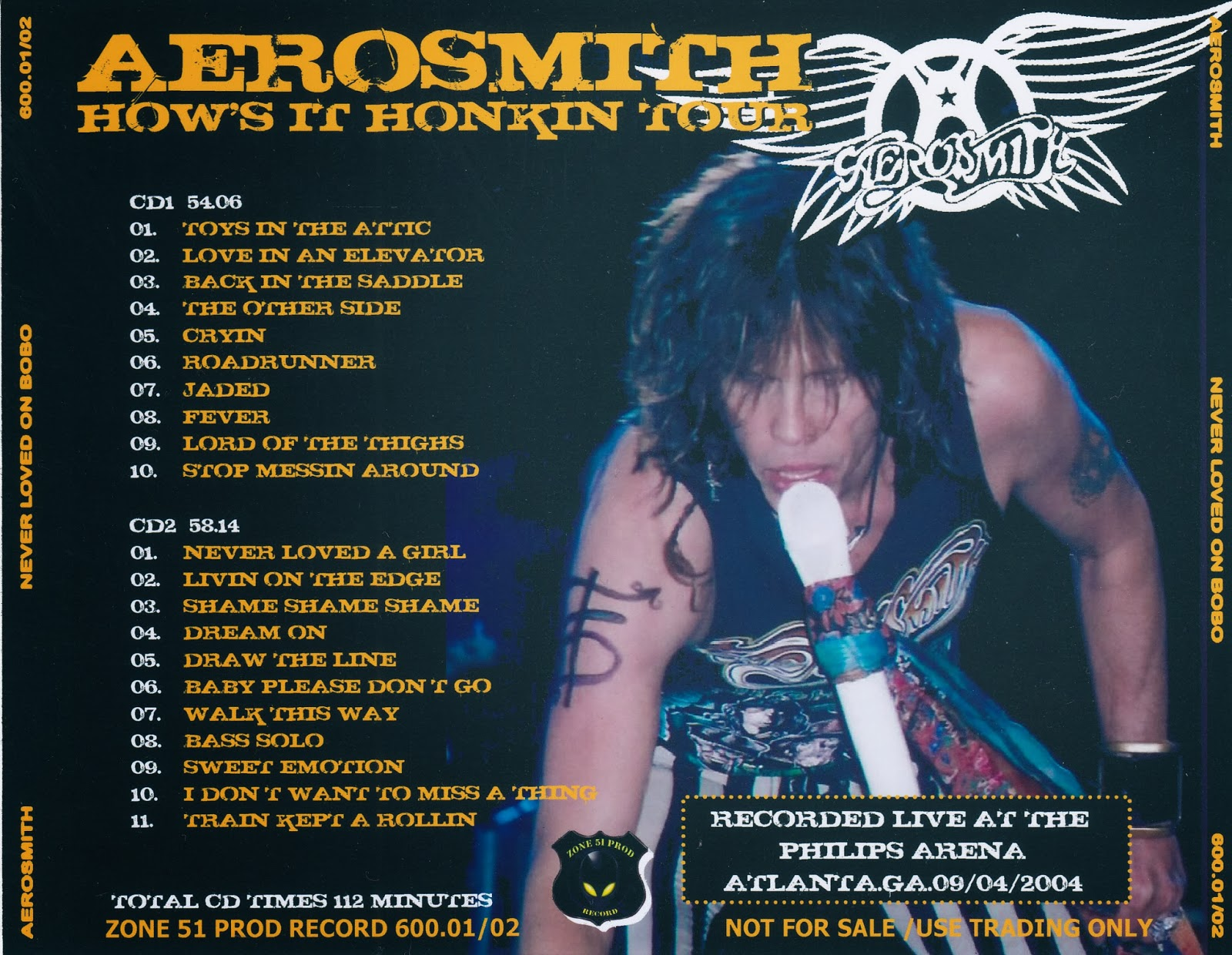 Aerosmith Bootlegs Cover Arts Never Loved On Bobo