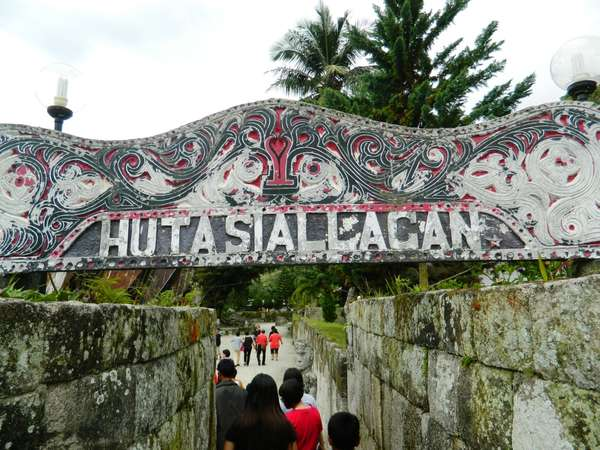 Gapura Masuk Huta Siallagan Pulau Samosir