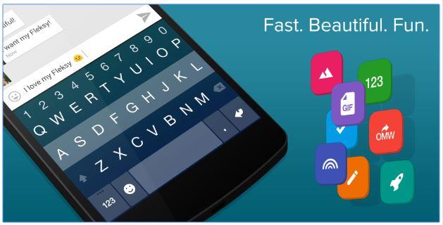 6 Aplikasi keyboard android terbaik dan paling recomended - Fleksy