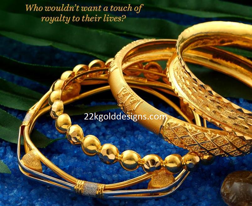 Josalukkas Gold Bangles design - 22kGoldDesigns
