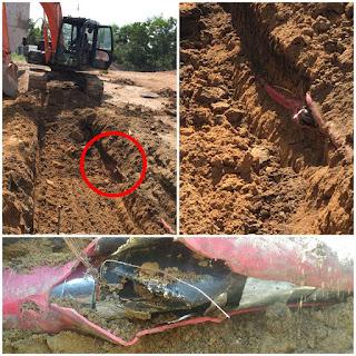 Pembangunan TOL Rusak Kabel PLN Kayuagung