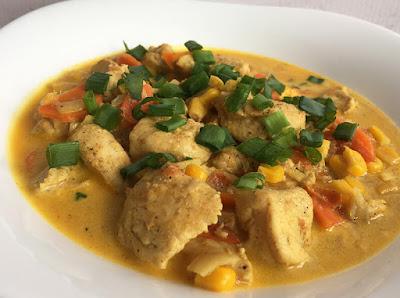 Pierś kurczaka z imbirem w sosie curry