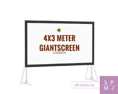 Sewa Layar Lebar / Giant Screen 4x3 Meter | Rental / Persewaan / Penyewaan Lcd Projector Infocus Sewa Proyektor Murah Yogyakarta