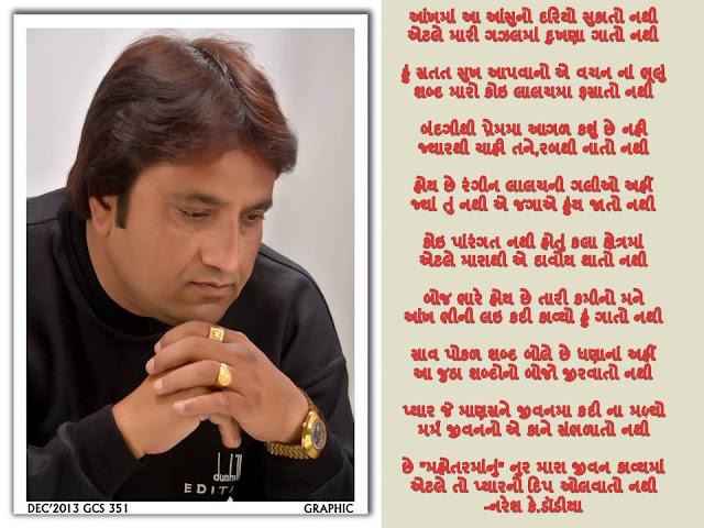 Ankh Ma Ansu No Dariyo Sukato Nathi-Gujarati Gazal