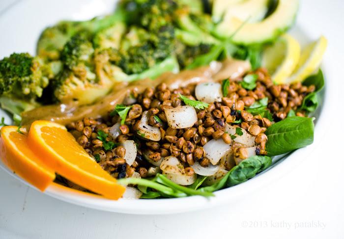 Savory Miso Broccoli + Spiced Lentil Power Plate! Vegan Fast