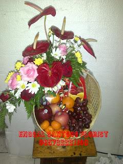 Rangkaian Parcel Bunga Dan Buah Untuk hari Raya Imlek