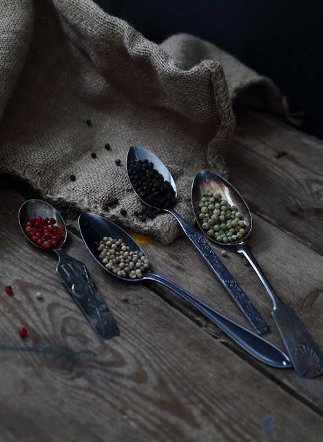 pippurit, valokuvaus, stilllife spices