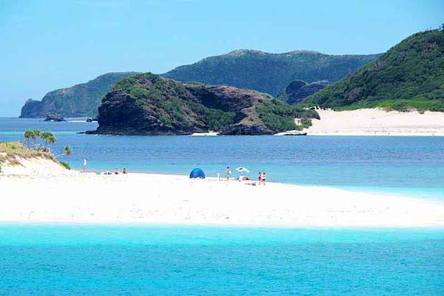 Beach scene on a remote island