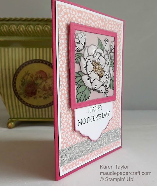 Stampin' Up! Birthday Blooms embossed vellum card