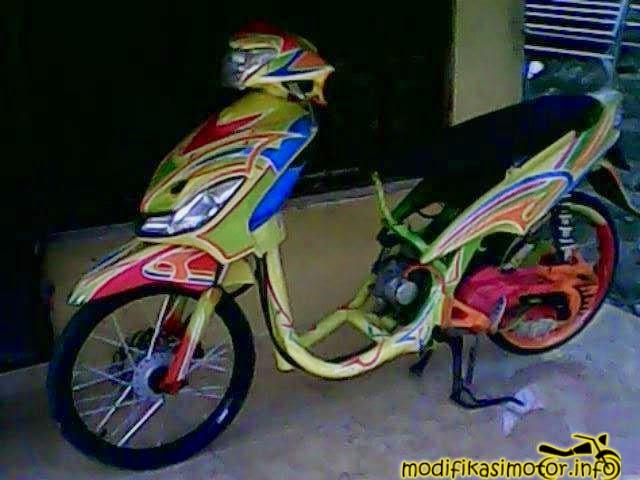 Gambar  Foto Modifikasi Motor Mio Soul J Sporty Terbaru