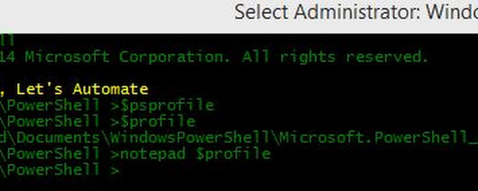 What's in my Power Shell profile ?