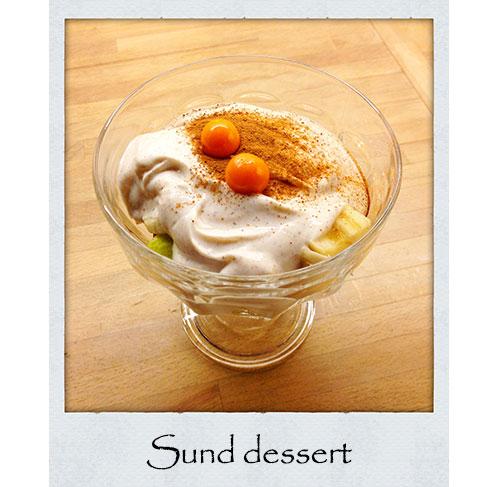 græsk yoghurt, sund, dessert, frugt, kanel, opskrift, mad, paleo, palæo
