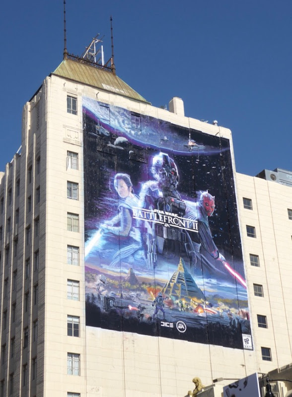 Giant Star Wars Battlefront II video game billboard