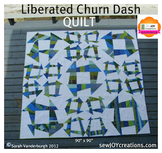 Liberated Churn Dash QUILT pattern