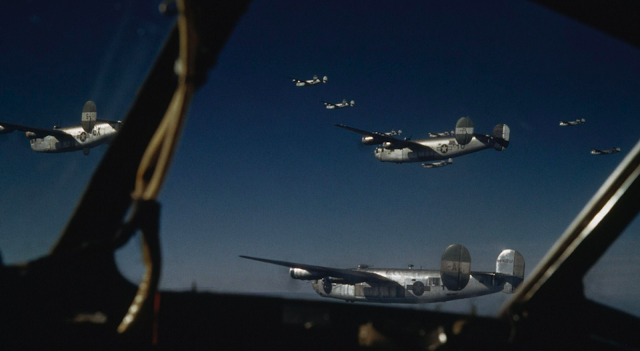 B-24 Liberator bombers of the 491st Bomb Group color photos of World War II worldwartwo.filminspector.com