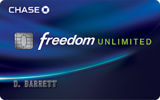 Having Unlimited Fun is easy with Chase Freedom Unlimited in your hand! Find out more and start having a blast all day everyday while earning cash back!