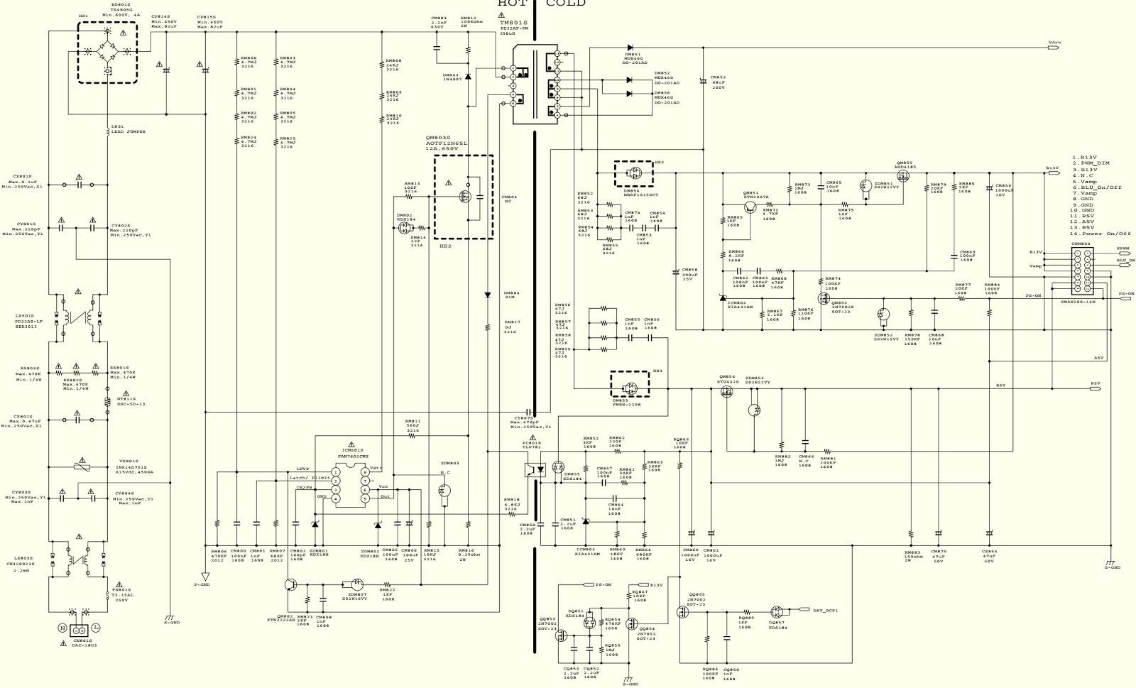 Bn44 00460a Samsung Lcd Tv Smps Schematic Ua32d5000pr Diagrams On Backlight Inverter Ue32d5520rkx