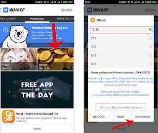 Penukaran whaff reward dengan bitcoin btc