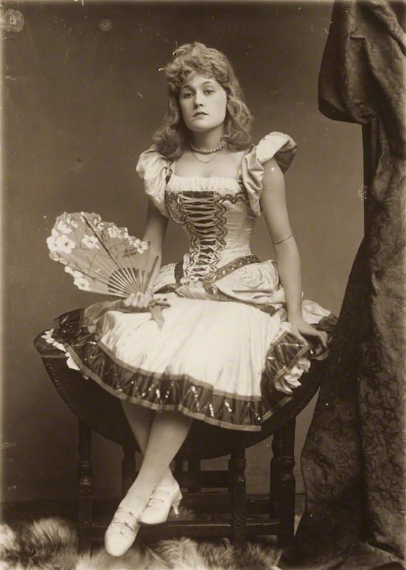 Vintage Photography Belle Bilton By Alexander Bassano 1889