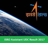ISRO Assistant UDC Result 2017