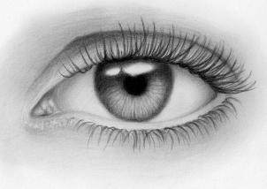 مدونة أرسم بالرصاص أرسم بالرصاص خطوات رسم العين والتظليل بطريقة