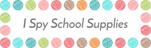 I Spy School Supplies Free Worksheets