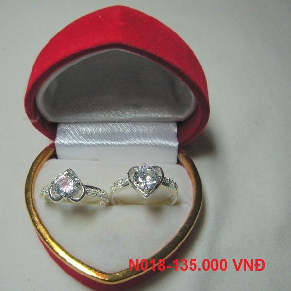 TrangSuc.top - Nhẫn đính đá trắng cao cấp MSN018 - 135.000 VNĐ - Liên hệ mua hàng: 0906846366(Mr.Giang)
