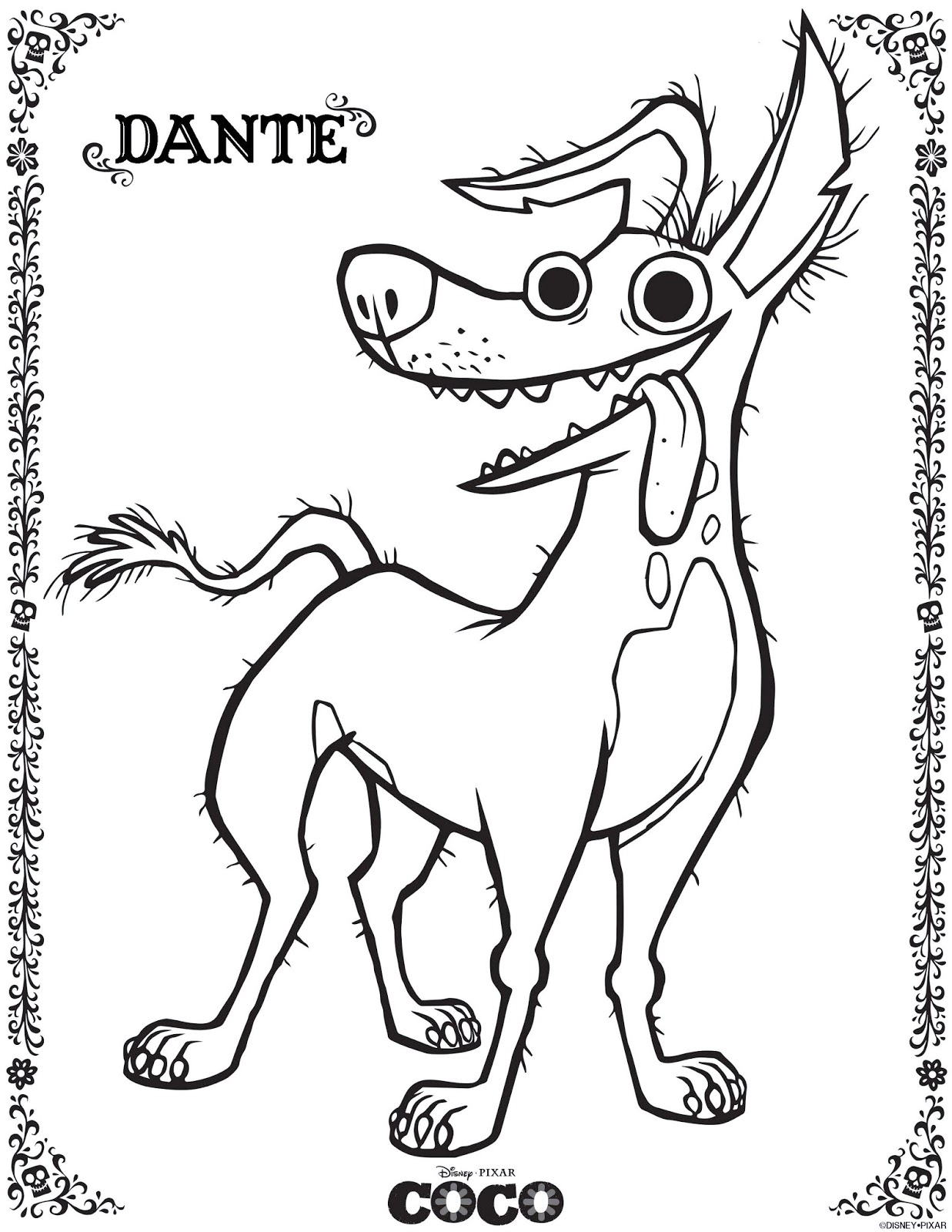 be brave keep going free printable coco movie coloring pages