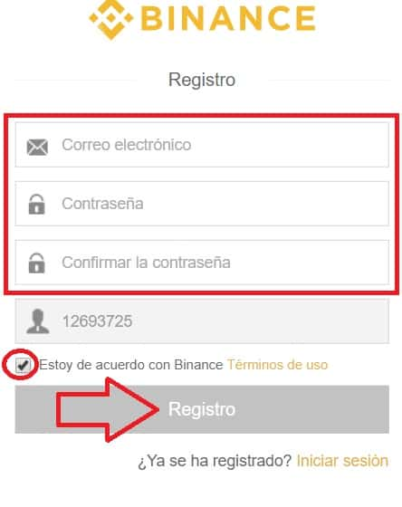 registro en web exchange binance para comprar monedas virtuales