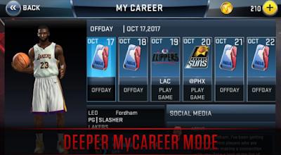 NBA2K18 v.35.0.1 MOD Apk+OBB Files screenshot free direct link mediafire