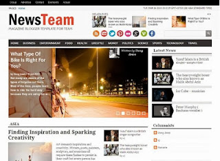 News Team Blogger Template