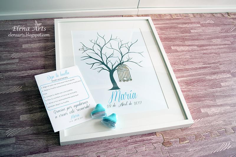 Elena Arts: Árbol de huellas de María y Aarón.