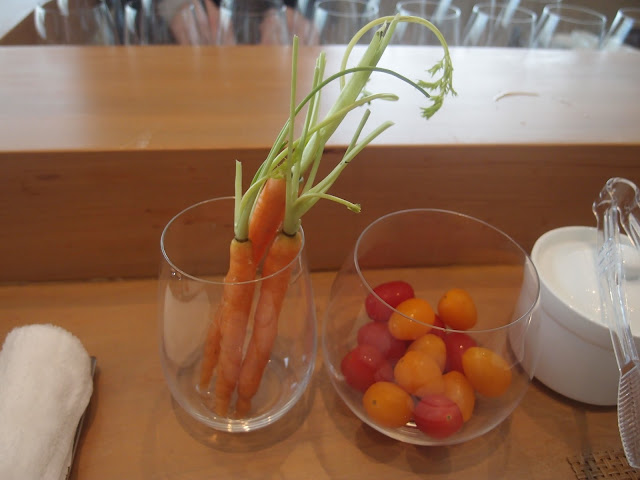 free flow carrots and tomatos
