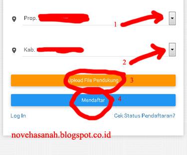formulir pendaftaran akun GTK di http://gtkedit.data.kemdikbud.go.id bagian 2