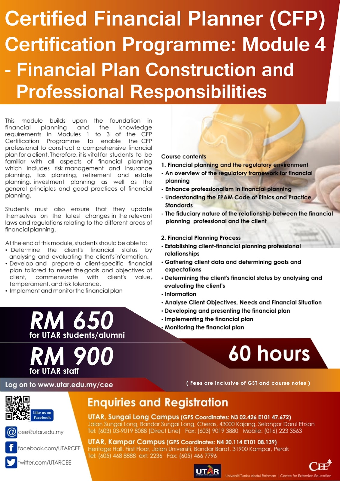 Event Register Now For Cfp Certification Programmes At Utar Kampar