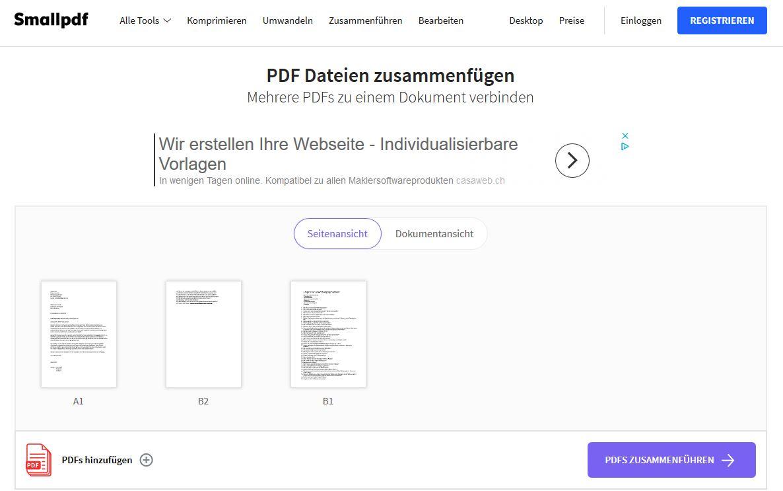 mehrere pdf dateien zusammenführen