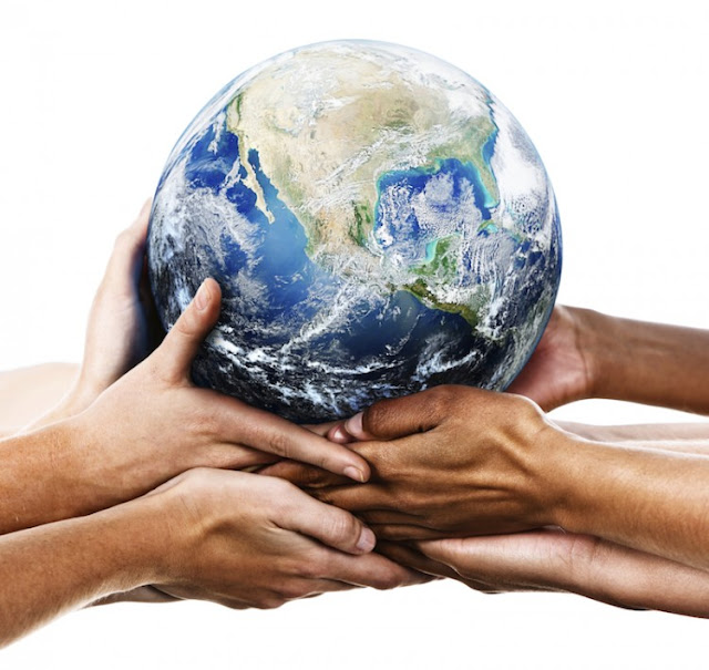 People of the world coming together to be more eco-friendly
