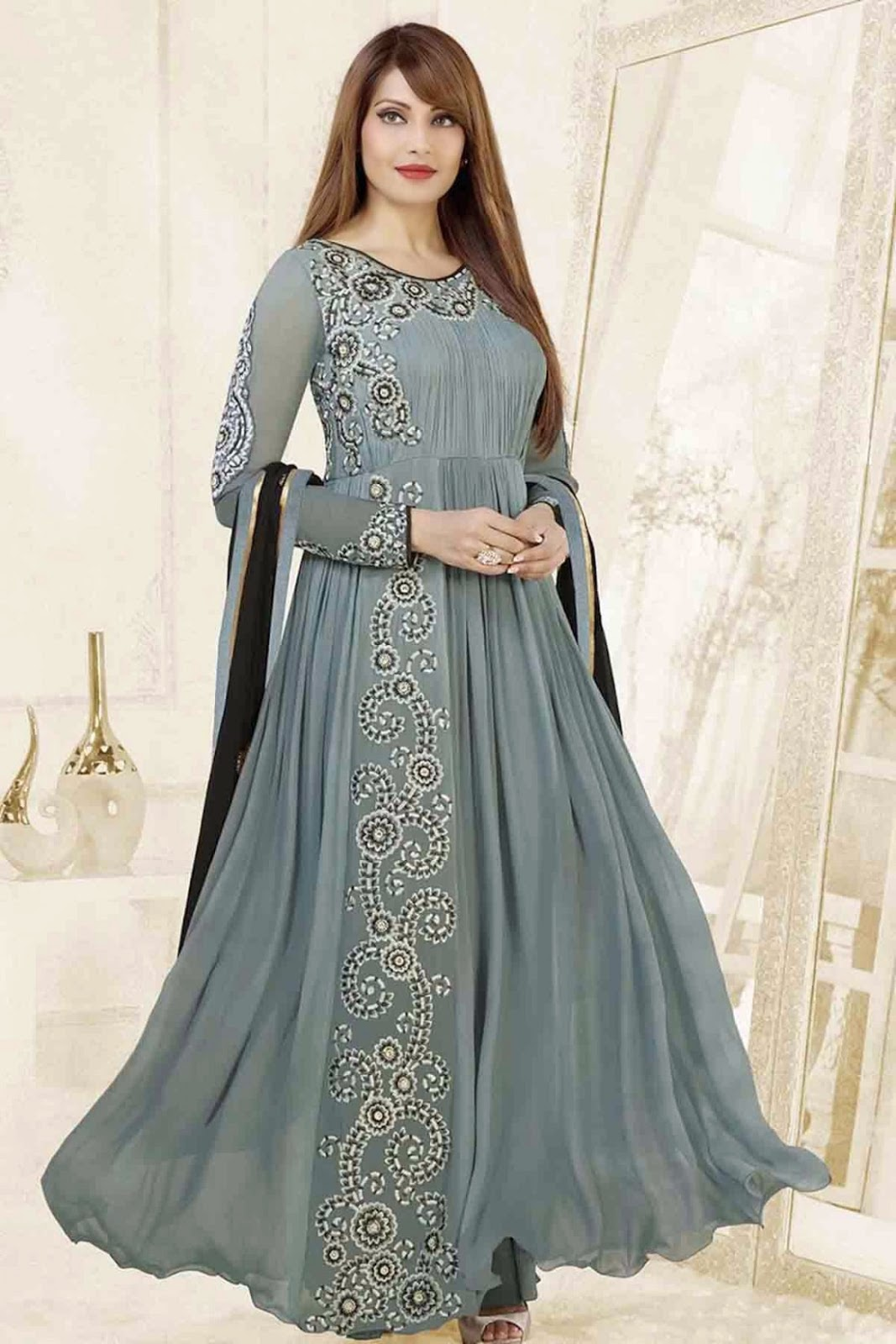 Designer Replica Dresses Wholesale Bollywood Actress Saree Collections Replica Anarkali Suits