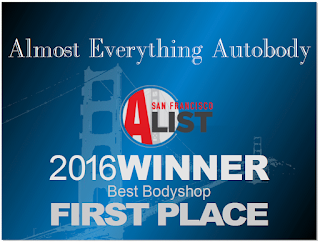 Almost Everything wins 2016 SF Bay Area Best Auto Body Award