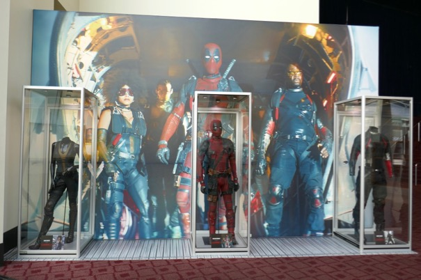 Deadpool 2 movie costume exhibit