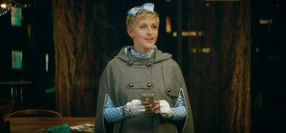 "Ellen as Goldilocks in ""The Right Music"" for Beats Music and AT&T Super Bowl Ad"