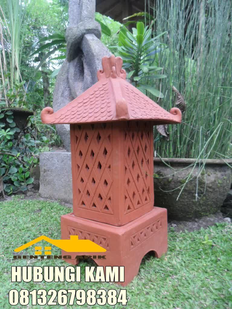 41 Ide Spesial Keramik Lampu Taman