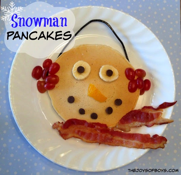 Snowman Pancakes from The Joys of Boys