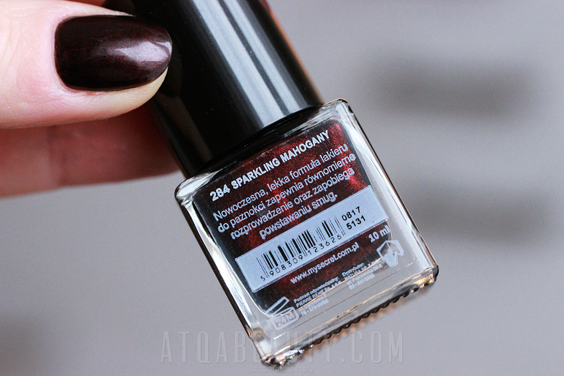 My Secret • Nail Polish • 284 SPARKLING MAHOGANY