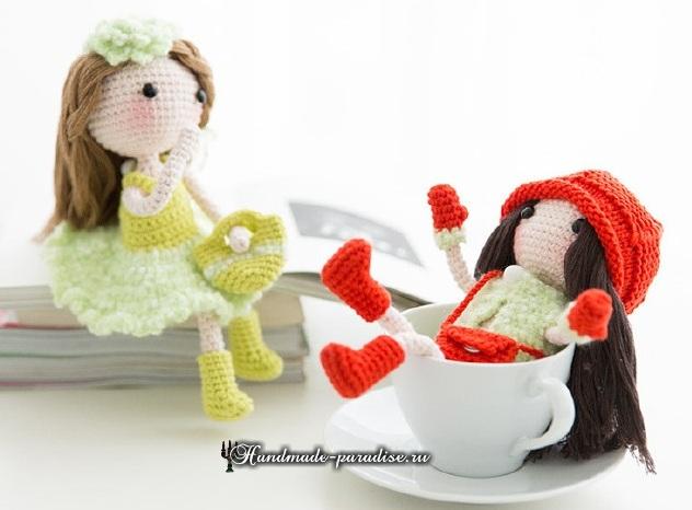 Куколки-подружки амигуруми