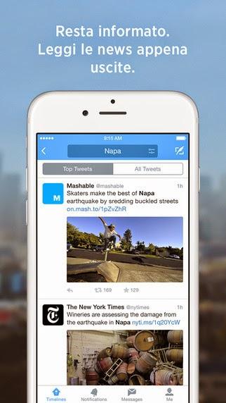 Twitter, l'app ufficiale si aggiorna alla vers 6.50