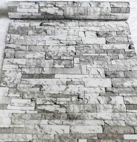 wallpaper sticker motif bata putih | wallstickku