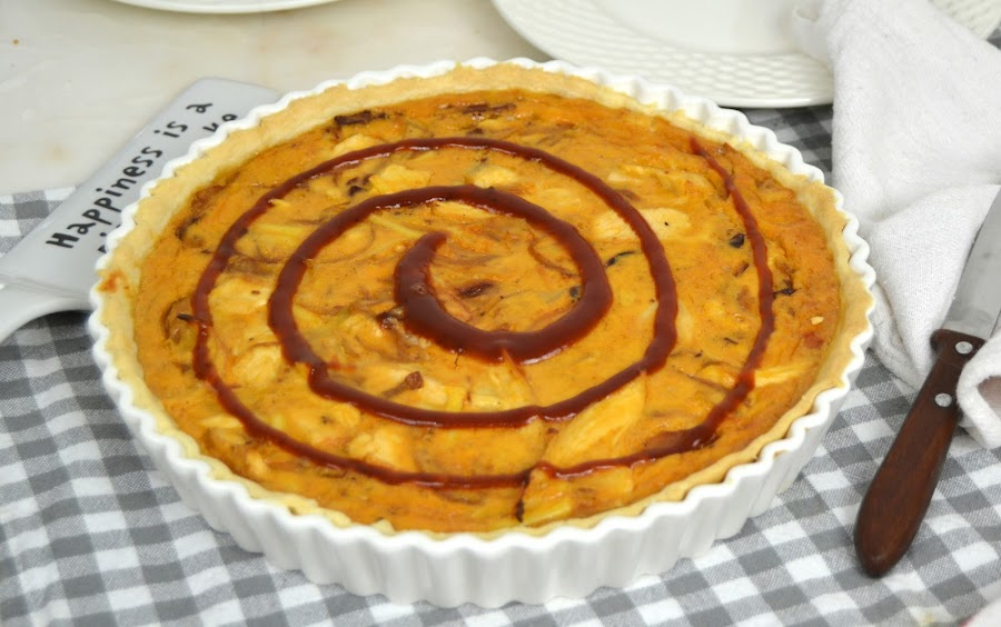 Quiche de pollo barbacoa