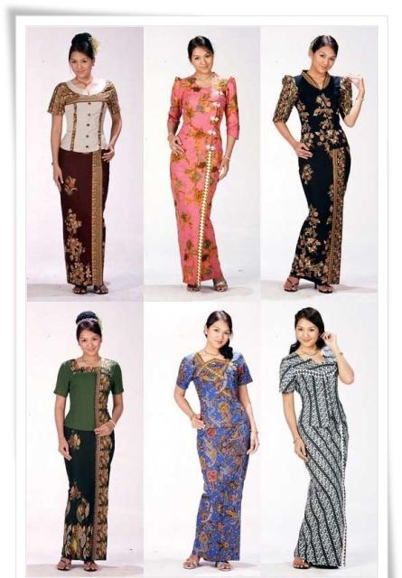 Model baju batik modern terbaru untuk acara pesta yang elegan, batik pesta